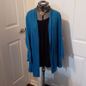 Notations Womens XL Blouse with Jacket Attached